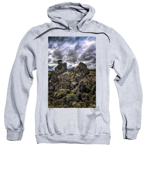 Lava Rock And Clouds Sweatshirt