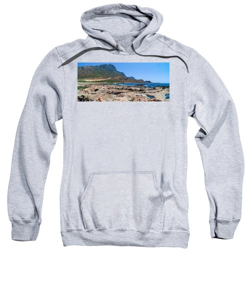 Lava Rocks Of Balos Sweatshirt
