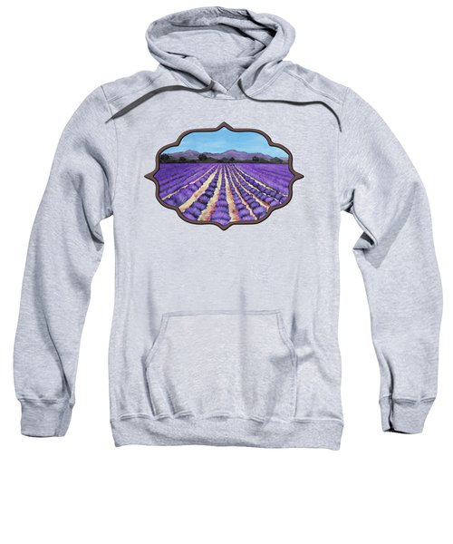 Lavender Field In Provence Sweatshirt