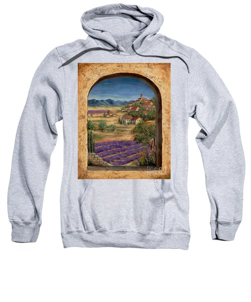 Lavender Fields And Village Of Provence Sweatshirt