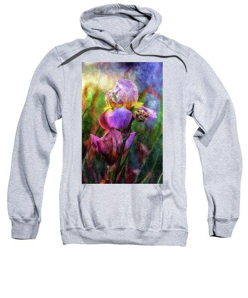 Lavender Iris Impression 0056 Idp_2 Sweatshirt