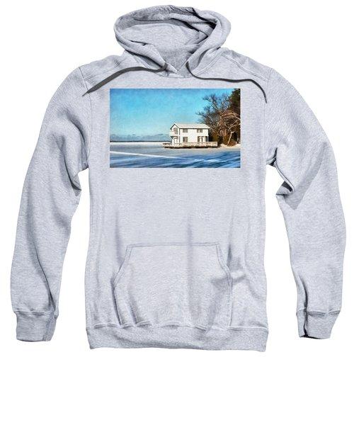 Leacock Boathouse In Winter Sweatshirt