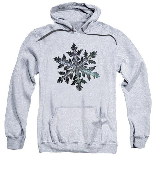 Leaves Of Ice, Panoramic Version Sweatshirt