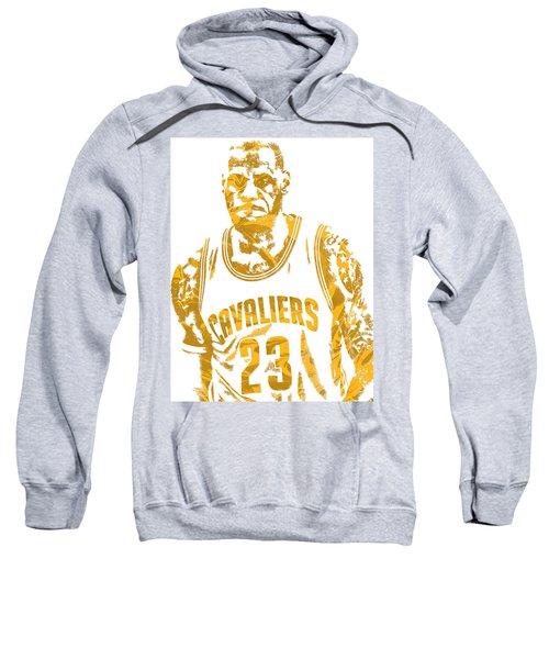 Lebron James Cleveland Cavaliers Pixel Art 10 Sweatshirt