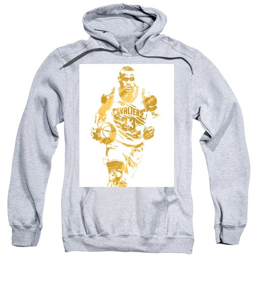 Lebron James Cleveland Cavaliers Pixel Art 7 Sweatshirt by Joe Hamilton