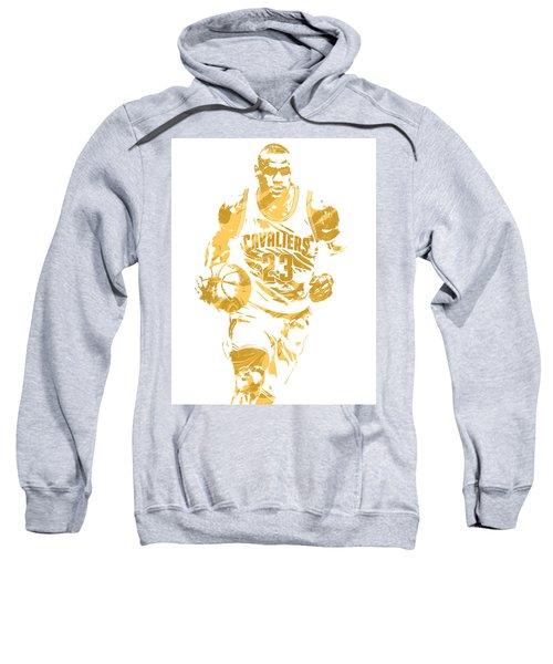 Lebron James Cleveland Cavaliers Pixel Art 7 Sweatshirt by Joe Hamilton