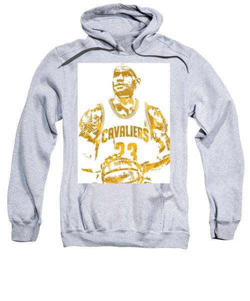 Lebron James Cleveland Cavaliers Pixel Art 8 Sweatshirt