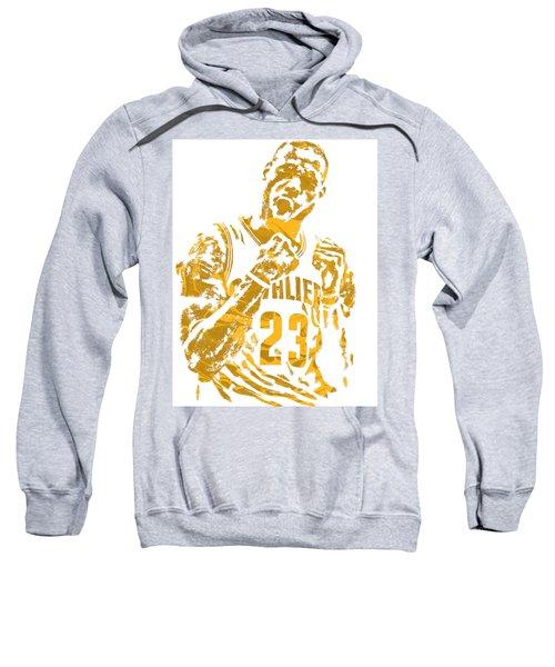 Lebron James Cleveland Cavaliers Pixel Art 9 Sweatshirt