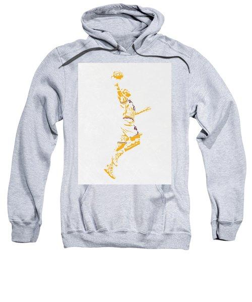 Lebron James Cleveland Cavaliers Pixel Art Sweatshirt by Joe Hamilton