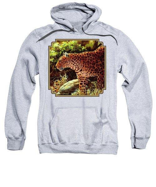 Leopard Painting - On The Prowl Sweatshirt