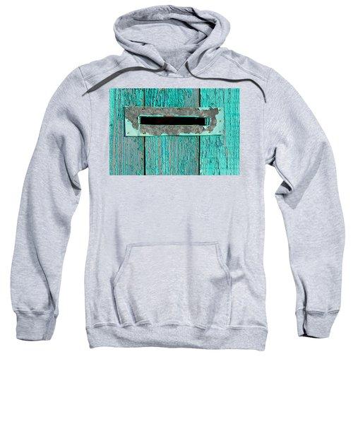 Letter Box On Blue Wood Sweatshirt