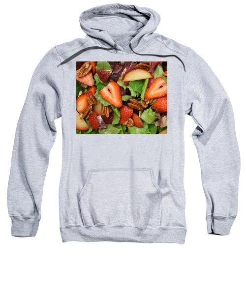 Lettuce Strawberry Plum Salad Sweatshirt