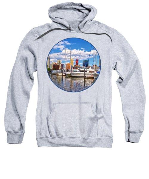 Liberty Landing Marina Against Jersey City Skyline Sweatshirt