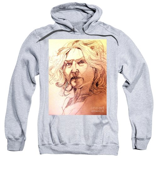 Life Drawing Sepia Portrait Sketch Medusa Sweatshirt