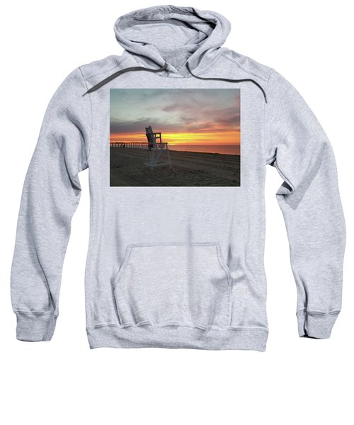 Lifeguard Stand On The Beach At Sunrise Sweatshirt
