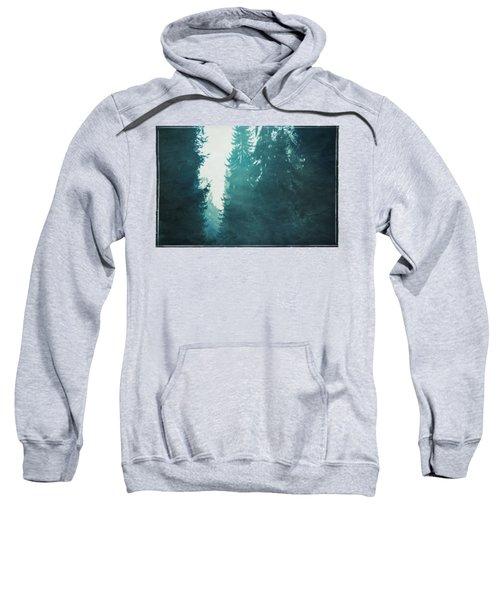 Light Coming Through Fir Trees In Mist Sweatshirt