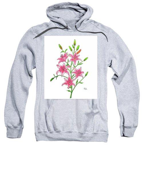 Light Pink Tiger Lily Sweatshirt