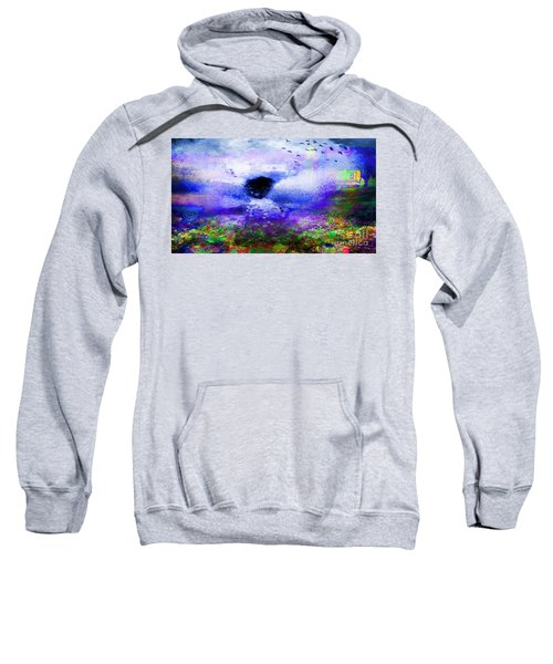 Lighthouse Angel Purple In Hotty Totty Style Sweatshirt