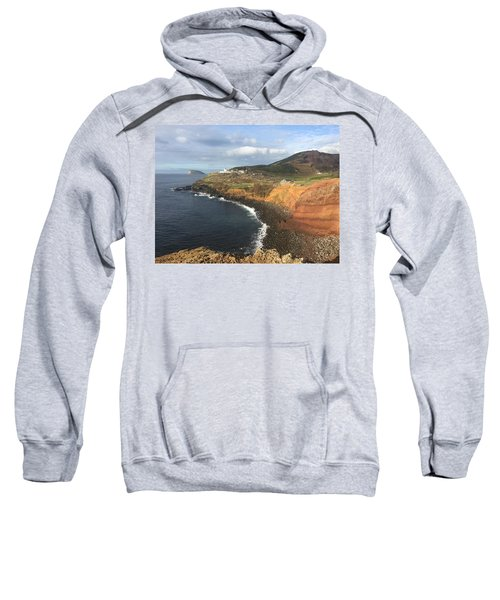Lighthouse On The Coast Of Terceira Sweatshirt
