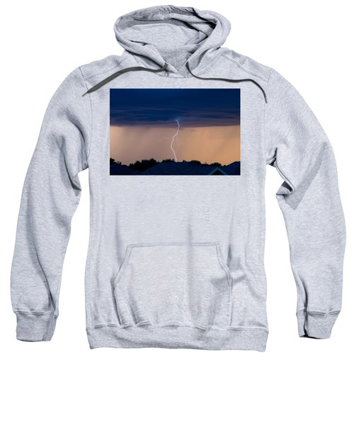 Sweatshirt featuring the photograph Lightning by Stephen Holst