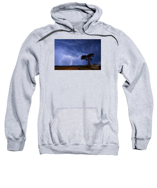 Lightning Storm On A Lonely Country Road Sweatshirt