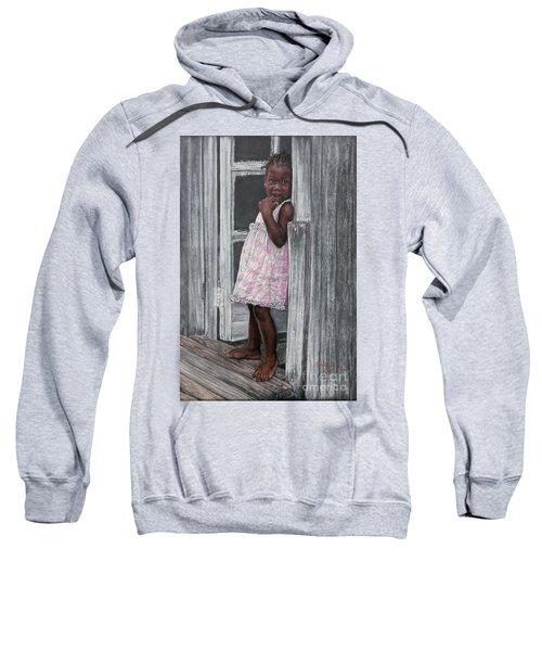 Lil' Girl In Pink Sweatshirt