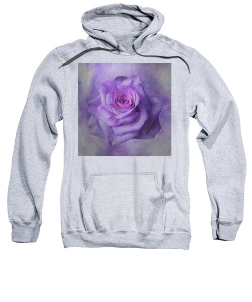 Lilac Purple Rose Sweatshirt