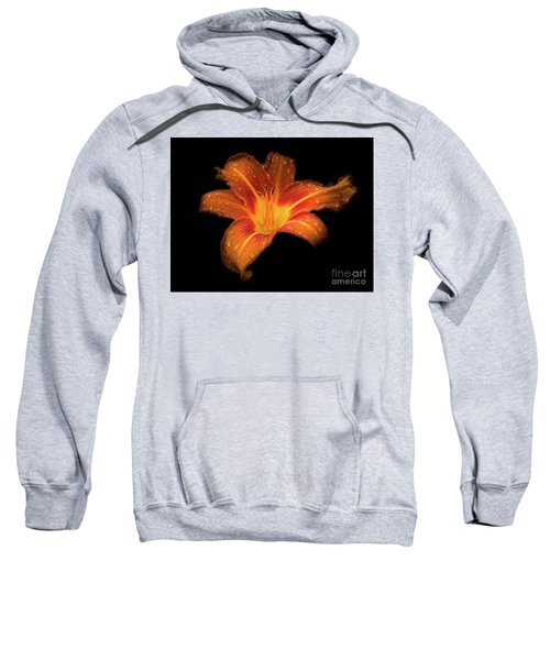 Lily Raindrops In Giverny, France Sweatshirt