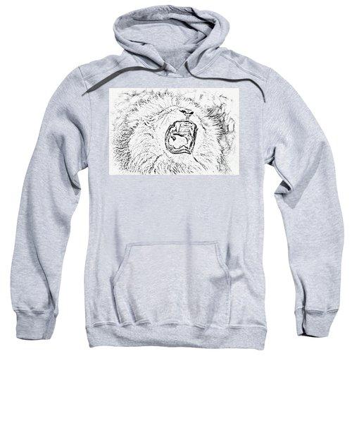 Lion Roar Drawing Sweatshirt