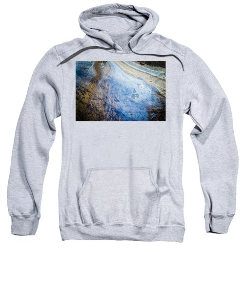 Liquid Oil On Water With Marble Wash Effects Sweatshirt
