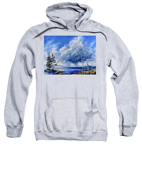 Sweatshirt featuring the painting Listen To The Rhythm by Hanne Lore Koehler