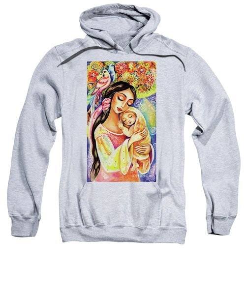 Sweatshirt featuring the painting Little Angel Dreaming by Eva Campbell