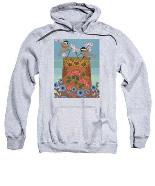 Sweatshirt featuring the painting Little Bird by Chholing Taha