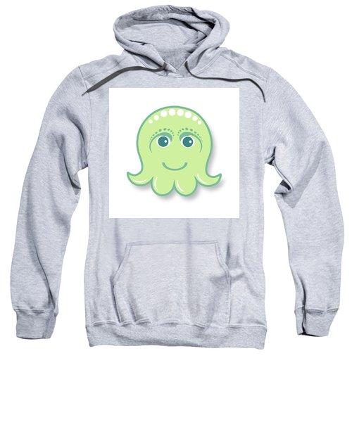 Little Cute Green Octopus Sweatshirt