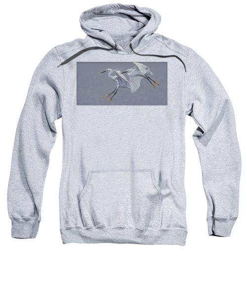 Little Egrets In Flight Sweatshirt