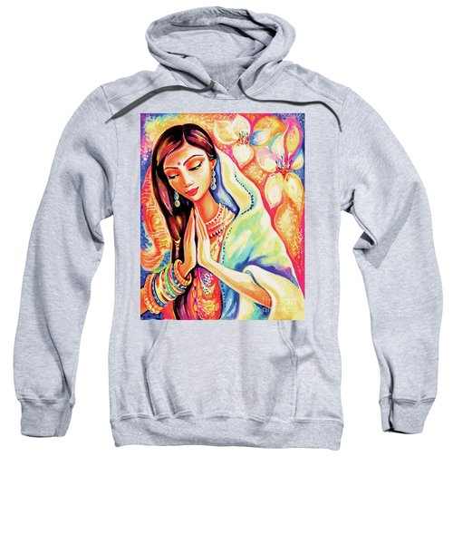 Sweatshirt featuring the painting Little Himalayan Pray by Eva Campbell