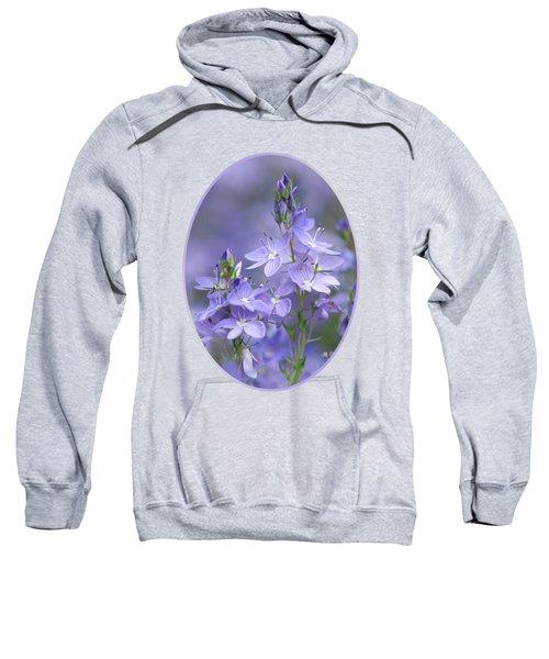 Little Purple Flowers Vertical Sweatshirt