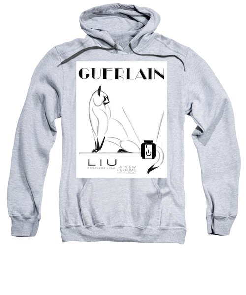 Sweatshirt featuring the digital art LIU by ReInVintaged
