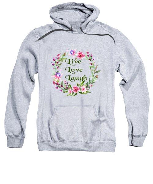 Live Love Laugh Wreath Sweatshirt