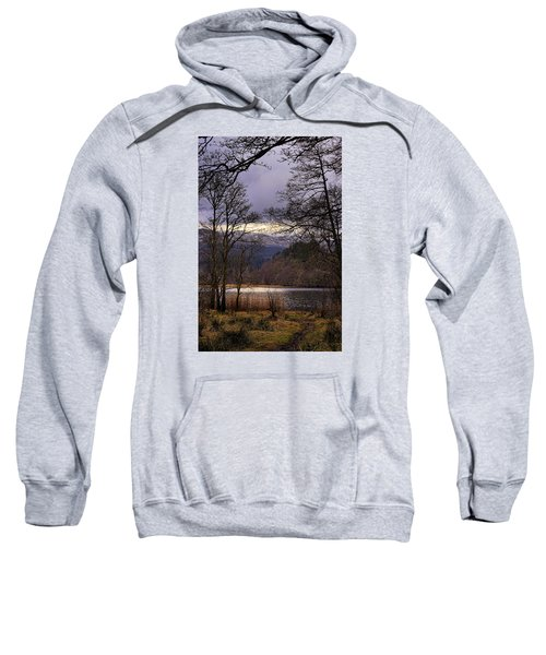 Sweatshirt featuring the photograph Loch Venachar by Jeremy Lavender Photography