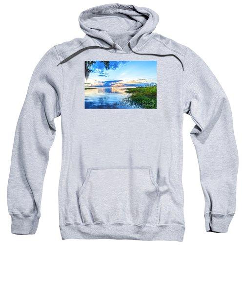 Sweatshirt featuring the photograph Lochloosa Lake by Anthony Baatz