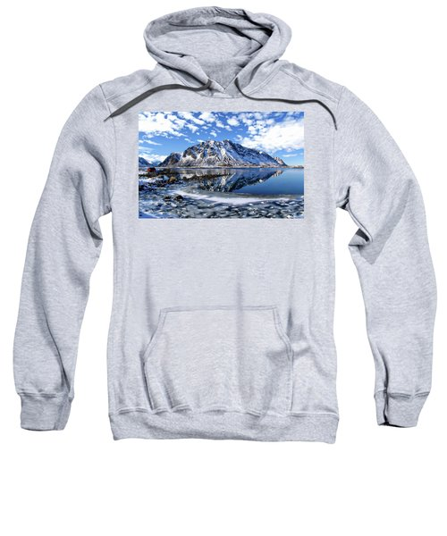 Lofoten Winter Scene Sweatshirt