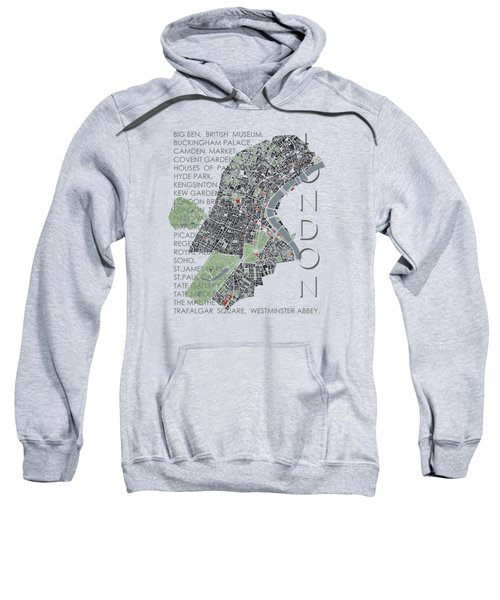 London Classic Map Sweatshirt by Jasone Ayerbe- Javier R Recco