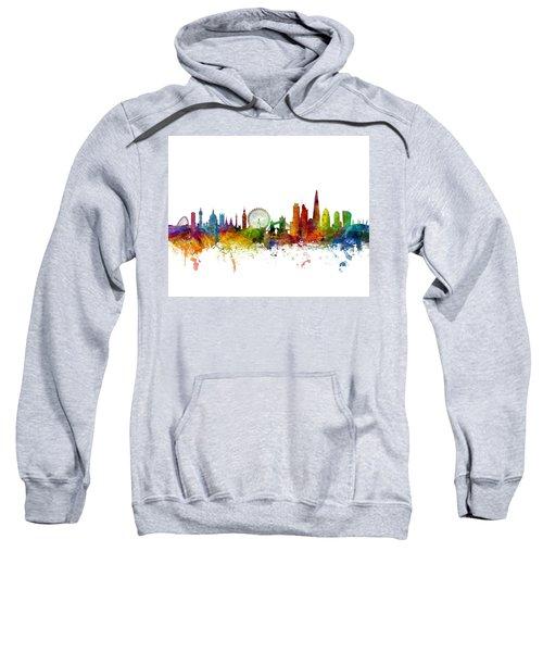 London England Skyline 16x20 Ratio Sweatshirt