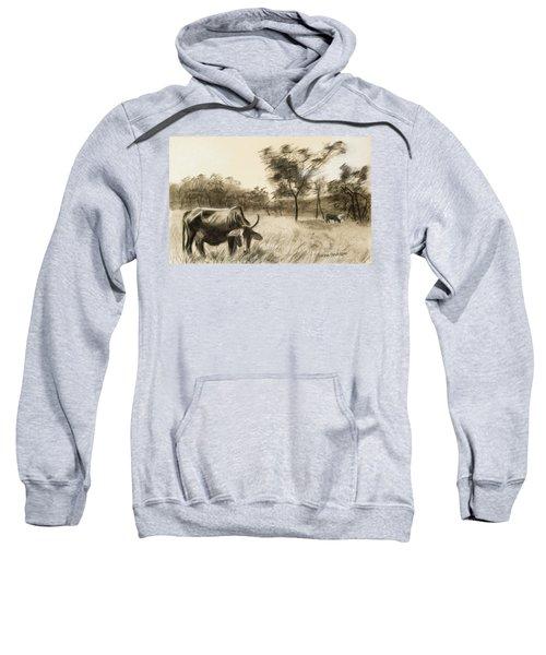 Lone Cow Grazing Sweatshirt