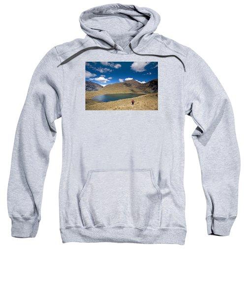 Lonely Walker At Punta Union Sweatshirt