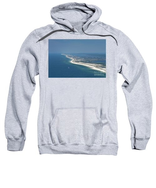 Long, Aerial, Beach View Sweatshirt