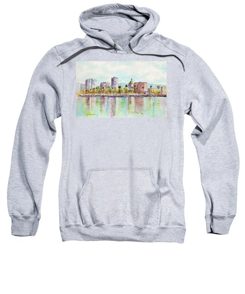 Long Beach Coastline Reflections Sweatshirt