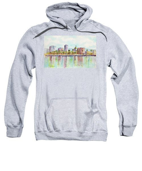 Long Beach Coastline Reflections Sweatshirt