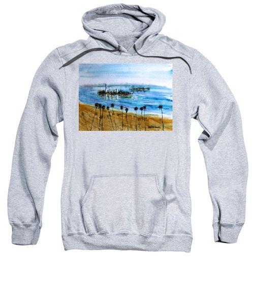 Long Beach Oil Islands Before Sunset Sweatshirt